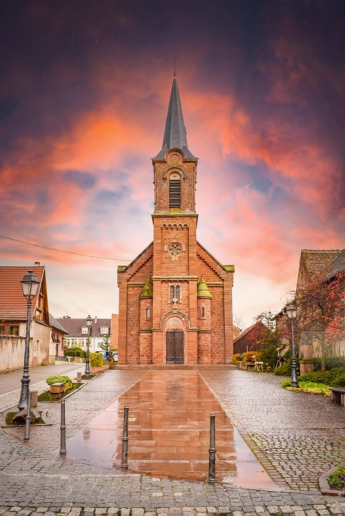 Eglise catholique de Mittelbergheim © French Moments