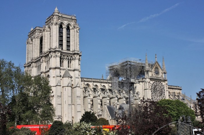 Notre-Dame de Paris 19 avril 2019 © Arthur Weidmann - licence [CC BY-SA 2.0] from Wikimedia Commons