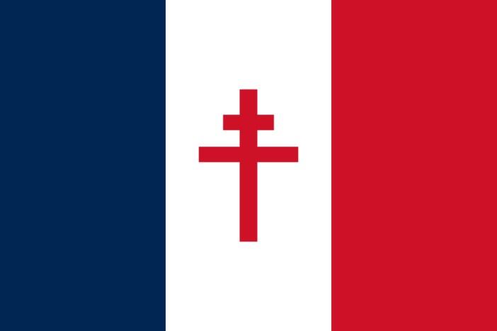 Croix de Lorraine - Drapeau de la France libre (1940-1944)