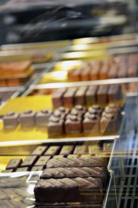 vitrine de chocolat