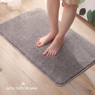tapis de bain gris absorbant