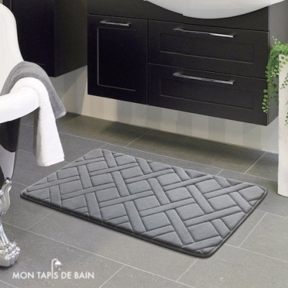 tapis de bain gris rectangle
