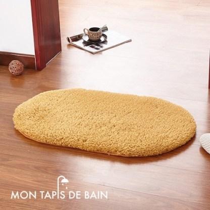 tapis de bain mémoire de forme marron