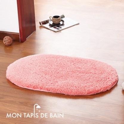 tapis de bain memoire de forme rose