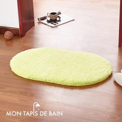 tapis de bain memoire de forme vert clair