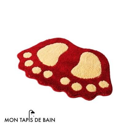 tapis de bain rouge original et drole