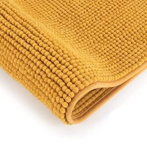 tapis de salle de bain jaune moutarde