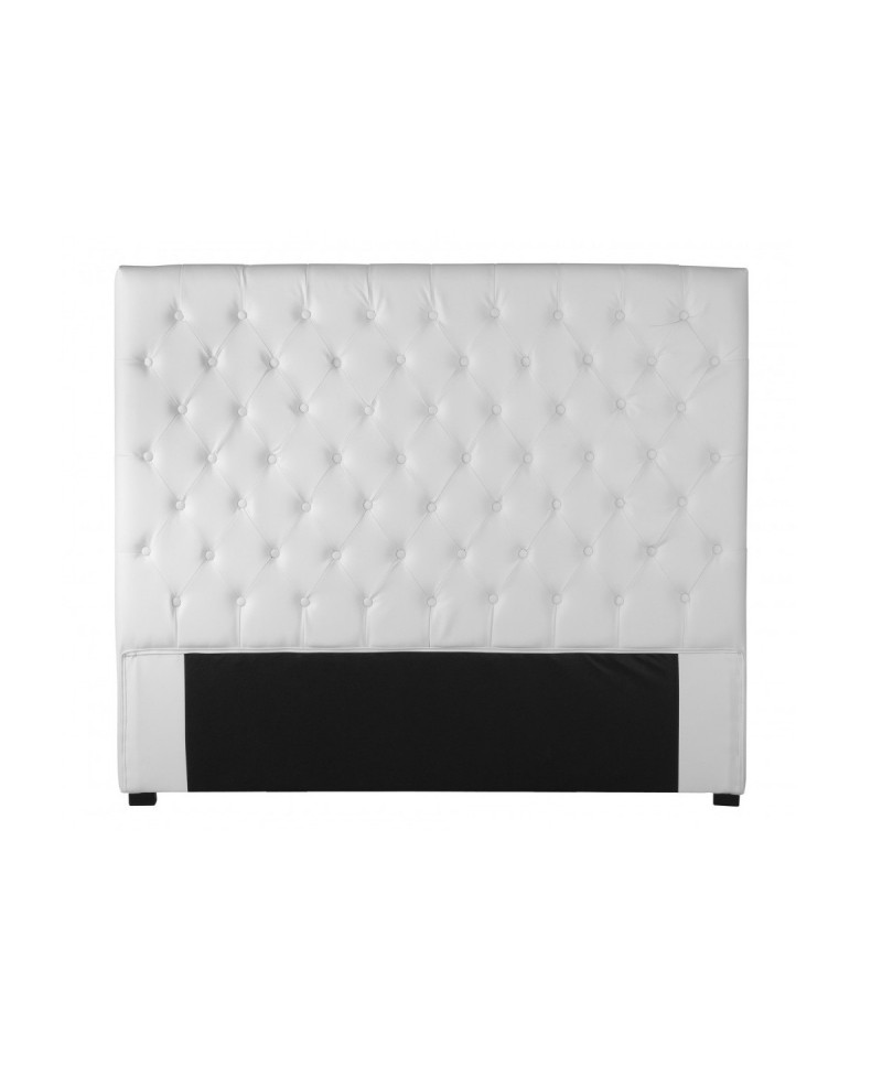 capri tete de lit simili cuir blanc 160 cm monachatdeco com