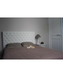 tete de lit capri simili cuir blanc 160 cm