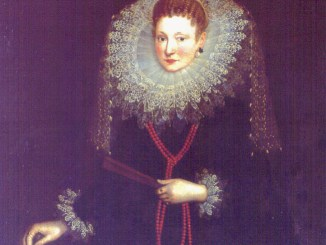 Dama genovese, con Ventaglio, opera di G.Van Deynen - Galleria di Palazzo Bianco, Genova