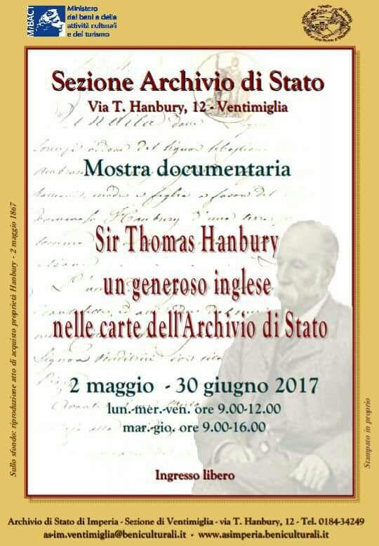 Ventimiglia Sir Thomas Hanbury Un Generoso Inglese Fino Al 30