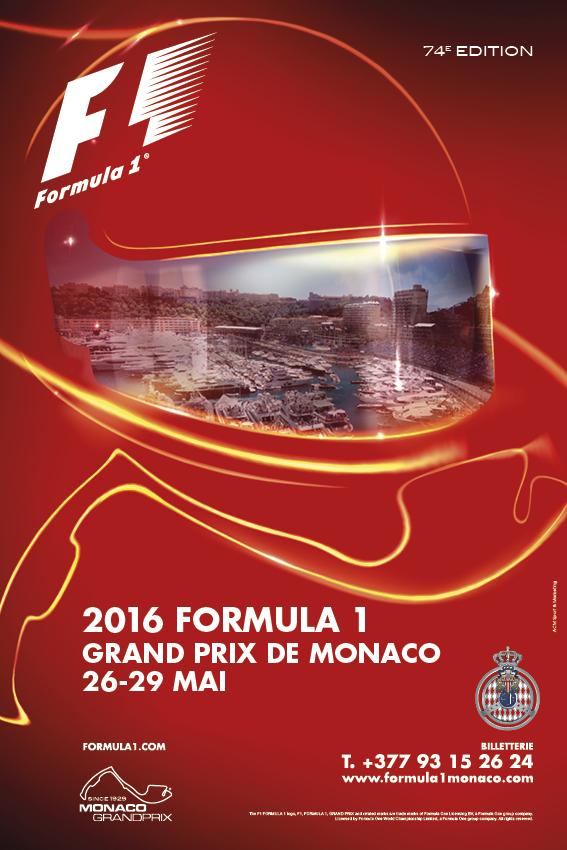 monaco grand prix 2016 locandina