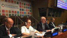 Serge Telle, Primo Ministro di Monaco, al Forum ONU sullo Sviluppo Sostenibile del luglio 2017 a New York