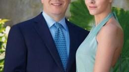 Alberto e Charlene di Monaco, durante il fidanzamento ufficiale Ft. Amedeo M.Turello / Palais Princier - Monaco.