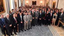 """Serge Telle riceve gli operatori delle banche che hanno ottenuto il """"Certificato Professionale Monegasco"""""""
