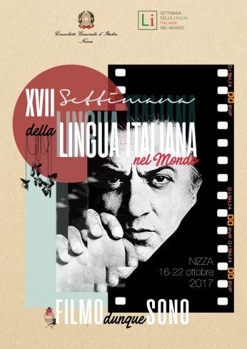 Locandina dell'edizione del 2017 della Settimana della Lingua Italiana nel Mondo a Nizza