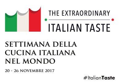 Locandina della Settimana della Cucina Italiana Nel Mondo