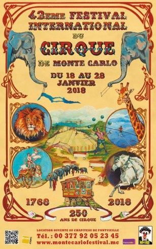 La Locandina del Festival Internazionale del Circo di Monte Carlo del 2018