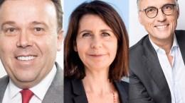 Elezioni nazionali monegasche - nella foto da sinistra: Stéphane Valeri (Primo! - Priorité Monaco); Béatrice Fresko-Rolfo (Horizon Monaco), Jean-Louis Grinda (Union Monégasque).