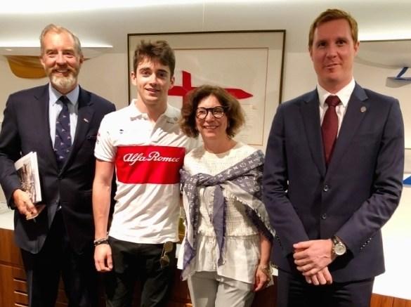 Charles Leclerc al debutto a Melbourne nel GP di Formula 1, ricevuto dall'Ambasciatrice di Monaco in Australia Ft.©DR