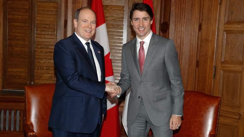 Il Principe Alberto di Monaco incontra ad Ottawa Justin Trudeau, Primo Ministro del Canada Ft©Palais Princier/Frédéric Nebinger