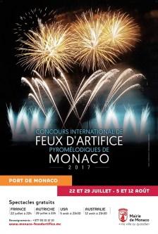 Monaco Concorso di Fuochi d'artifico piromelodici del 2017