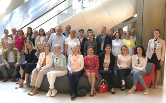 Presentazione dell'Eco-villaggio Monacology 2018 insieme a Kate Didier e Olivier Arnoult al Grimaldi Forum di Monte Carlo