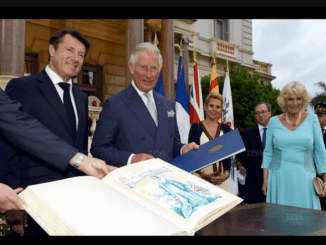 L'acquarello di Maugliani a Carlo d'Inghilterra Durante la Recente Visita a Nizza