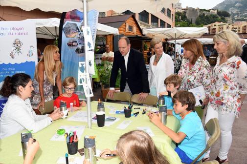 Con il Principe Alberto negli Stand dell'Eco-Villaggio Monacology Ft©Manuel Vitali/Dir.Comm