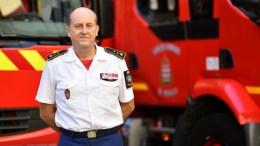 Norbert Fassiaux alla testa dei Vigili del Fuoco di Monaco