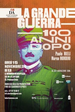 La Grande Guerra 100 anni dopo, raccontata a Monte Carlo da Paolo Mieli e Marco Mondini