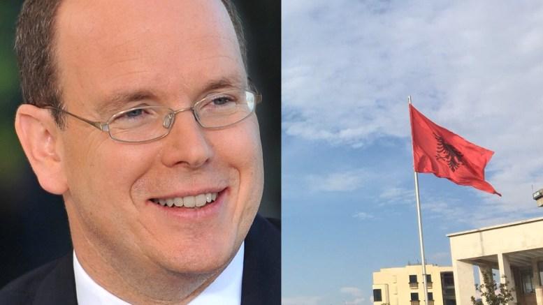 Il Principe Alberto di Monaco in Albania