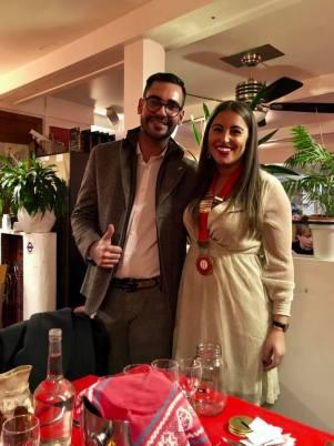 Sarah Rotaract Monaco Con Francesco Fragomeni Prossimo Presidente