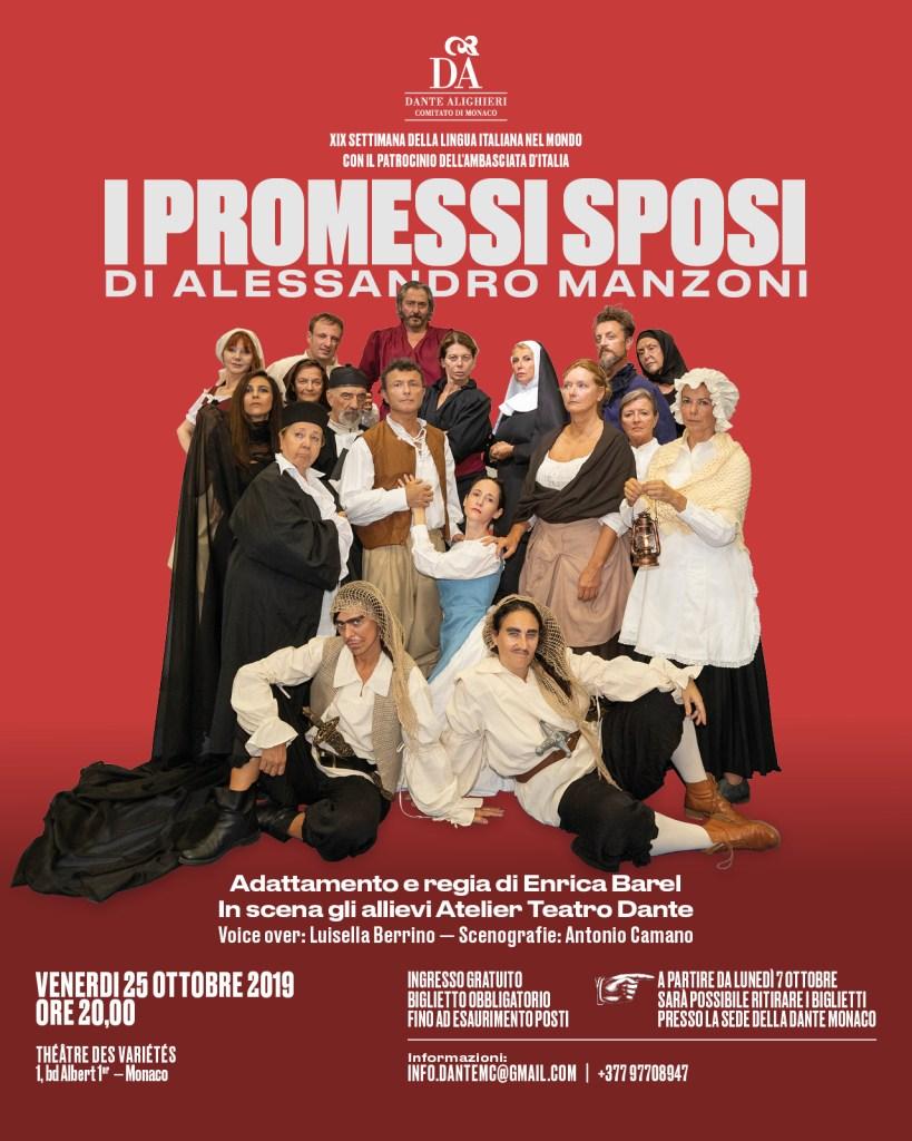 I Promessi Sposi a Monte Carlo per la Settimana della Lingua Italiana