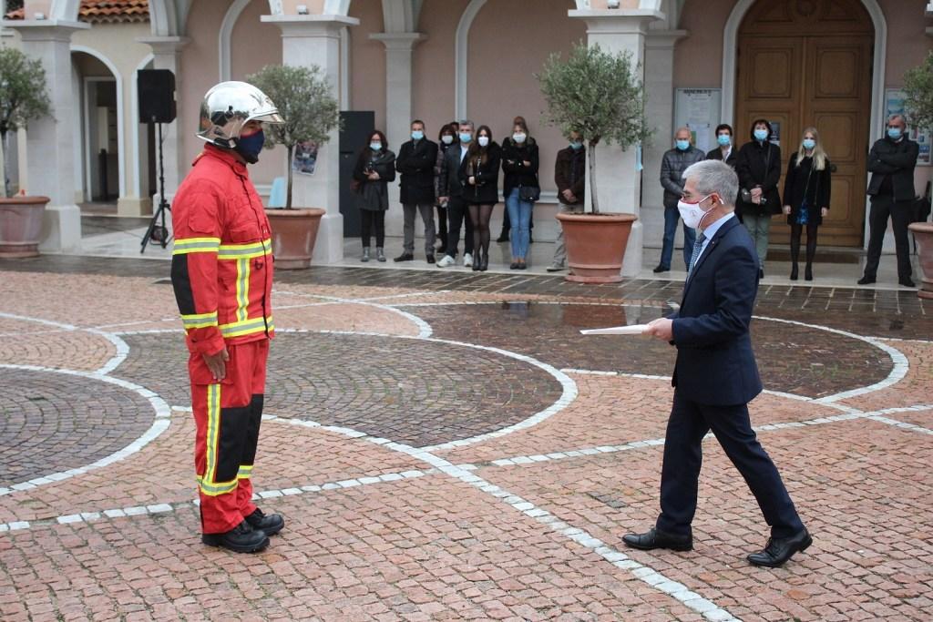 Vigili Del Fuoco Montecarlo Cerimonia di Remise De Témoignage De Satisfaction ©DR