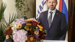 Cerimonia Commemorativa per Andrei Myshkovets Console Onorario di Monaco in Russia