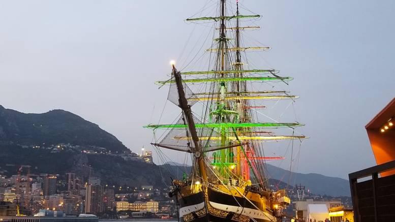 La Nave Amerigo Vespucci nel Porto di Monaco (le foto)