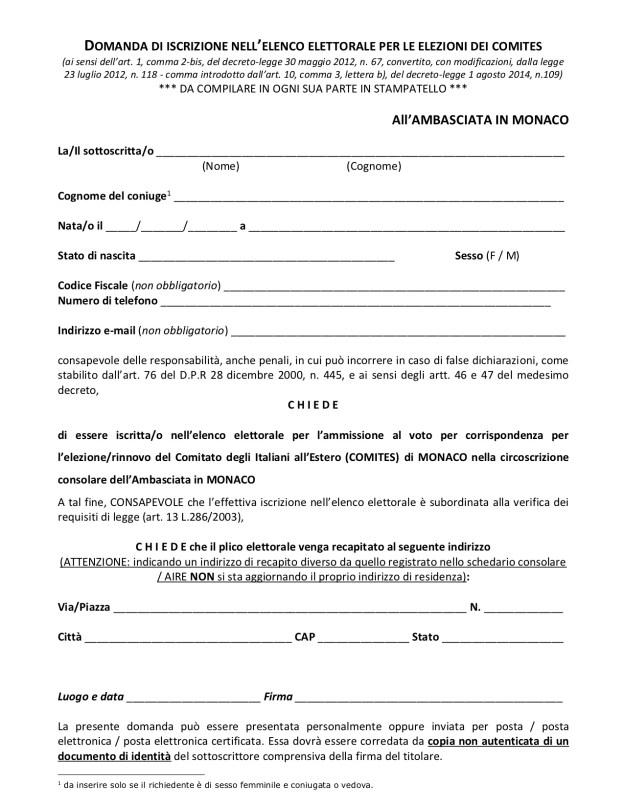 Volete Votare per i Comites? – Anche a Monaco Occorre Iscriversi nell'Elenco degli Elettori