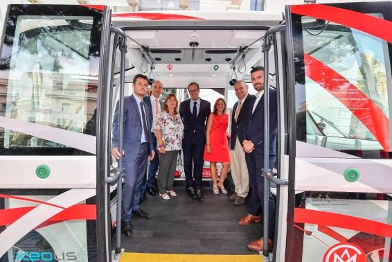 Bus navetta elettrico nel Principato