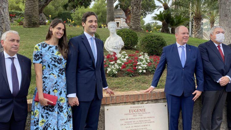Il Busto della Principessa Eugenia Inaugurato a Monaco dal Principe Alberto alla Presenza di Jean-Christophe Napoléon