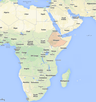 Ethiopia in the African continent