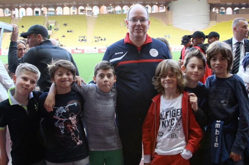 Tony, Ethan, Alex, Prince Albert, Paul, Massimo and Antonin