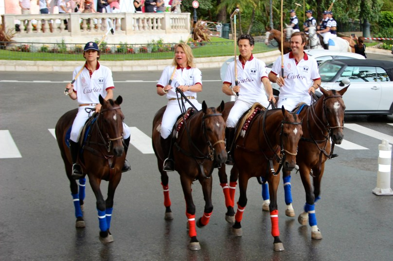 Cartier team during the parade on the Casino Square in Monaco @CelinaLafuenteDeLavotha
