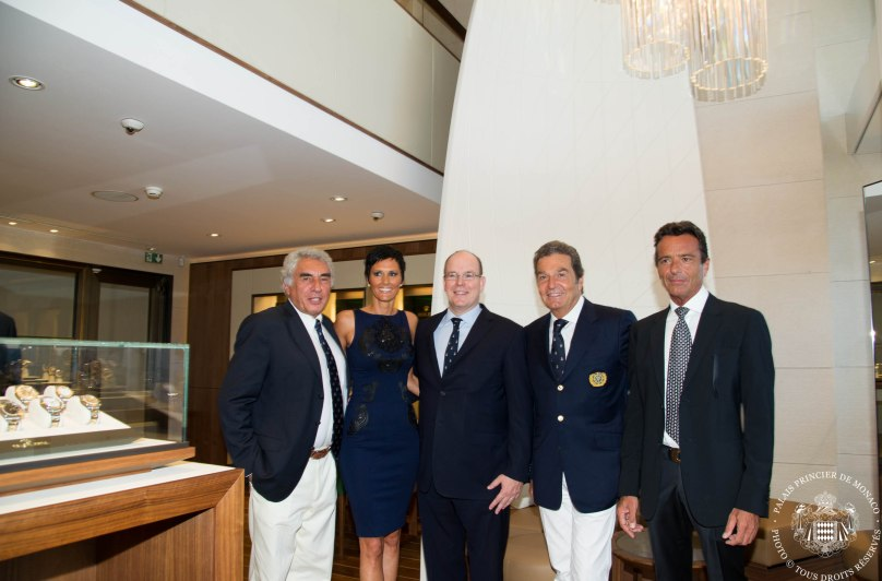 Bernard d'Alessandri, Tina Zegg, HSH Prince Albert and Carlo Cerlatti