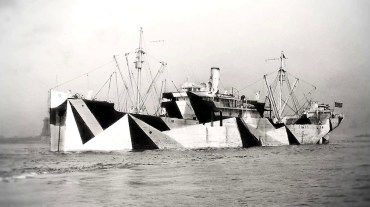 Dazzle painted ship