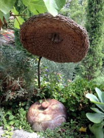 Wicker lamp and pot at La Colombe D'Or @CelinaLafuenteDeLavotha