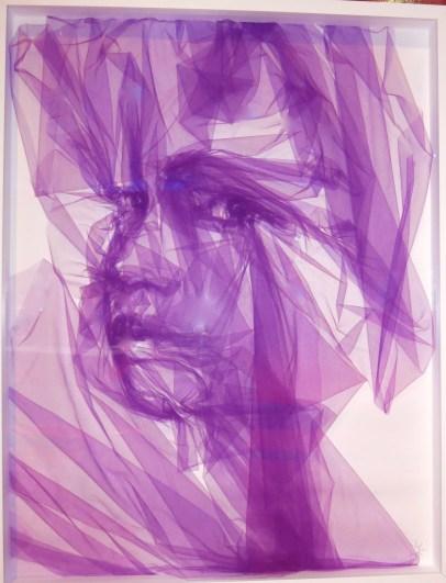 Benjamin Shine - Portrait in purple tulle @CelinaLafuenteDeLavotha