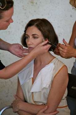 Orla Brady during make up session of The Price of Desire @CelinaLafuenteDeLavotha