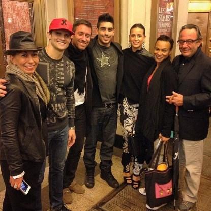 Caroline Jelmoni, Kyle Dean Massey (Pippin leading role), Stephane, Nicolas Jelmoni, Camille Sibille, Carly Huges (leading performer( and Jean Pierre Jelmoni, in New York @C.Jelmoni