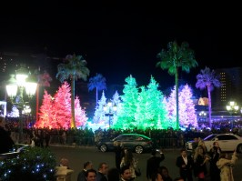 A colorful forest in the Casino Square